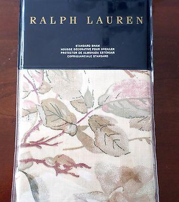 New Ralph Lauren Wilton Rose Floral Cream Green Rust Standard SHAM