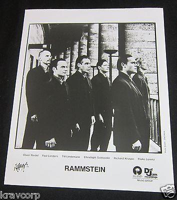 RAMMSTEIN—1999 PUBLICITY PHOTO