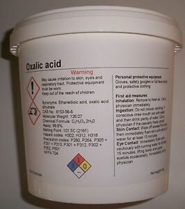 1kg Oxalic acid: Hull, Deck, GRP cleaner, stain & rust remover
