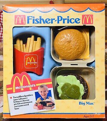 VTG 1988 Fisher Price McDonalds Play Food Set Fun For Tikes BIG MAC & FRIES NIB