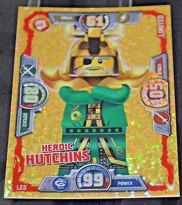 LEGO NINJAGO series 3 Trading Card LE8  HEROIC HUTCHINS