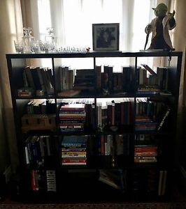 IKEA 4x4 Cube Black Bookshelf