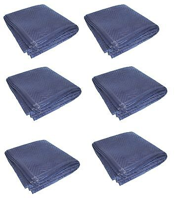 6pk Heavy Duty Moving Blanket Pro Quilted Pads 72 X 80 Furniture 69lbsdz