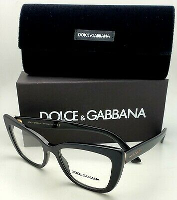 New DOLCE&GABBANA Rx-able Eyeglasses DG 3308 501 53-18 Black&Gold Cat Eye (Dolce And Gabbana Eye Frames)