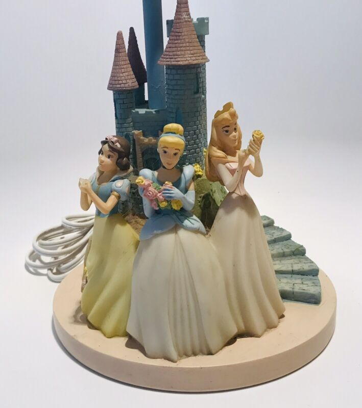Vintage Hampton Bay Disney Princess Castle Lamp Snow White Cinderella Aurora