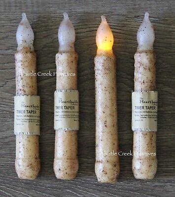 Set of 4 - LED Burnt Ivory 6
