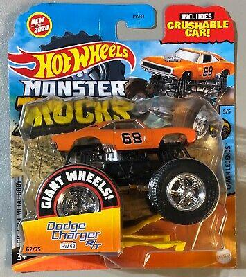 New 2020 Hot Wheels Monster Trucks Dodge Charger RT 68 Slicks (Track Ace Like)