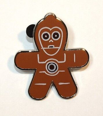 Used, Disney Pin Trading Star Wars Gingerbread Mystery Christmas Cookie C-3PO Robot for sale  USA