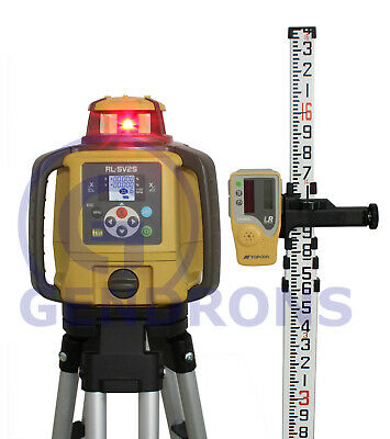 Topcon Rl-sv2s Dual Slope Self-leveling Rotary Grade Laser Level Package 10th
