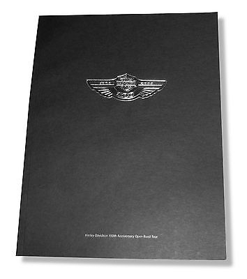 HARLEY DAVIDSON 100th ANNIVERSARY OPEN ROAD BOOK NEW SALE NOS OFFICIAL