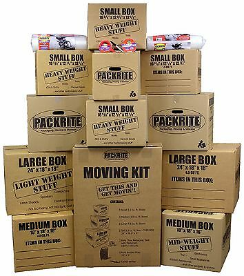 Moving Boxes Kit - Heavy Duty Cardboard Boxes And Packing Supplies For Shipping