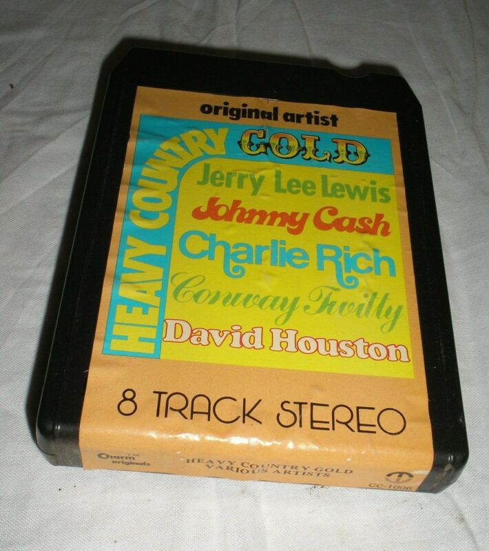 Heavy Country Gold Johnny Cash, Conway Twitty, Houston, Rich, Lewis Eight Track