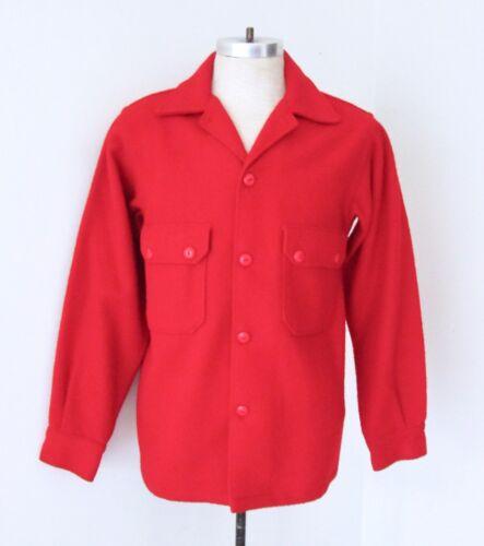 VGC Vtg Boy Scouts of America BSA Red Wool Blanket Uniform Official Jacket 40
