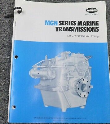 Twin Disc Mgn-3727h Transmission Assembly Dimensional Specifications Manual