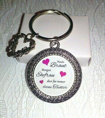 Schlüsselanhänger Silber & Herz für die Braut Mama/Bräutigam Mama Gastgeschenk  (Bräutigam, Geschenk Für Braut)