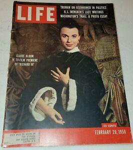February 20, 1956 LIFE Magazine 1950s Advertising, ads add FREE SHIP Feb 2 21