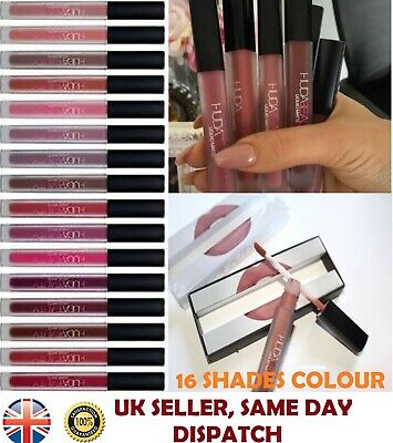New Huda Beauty Liquid Lip Matte Lipstick Lip gloss Boxed UK Seller – 16 Shades
