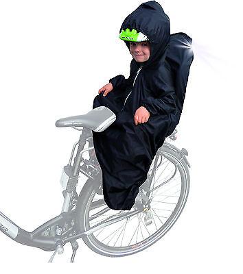 Regencape Regenschutz Regenhaube für Kindersitz auf Fahrrad Kinderfahrradsitz