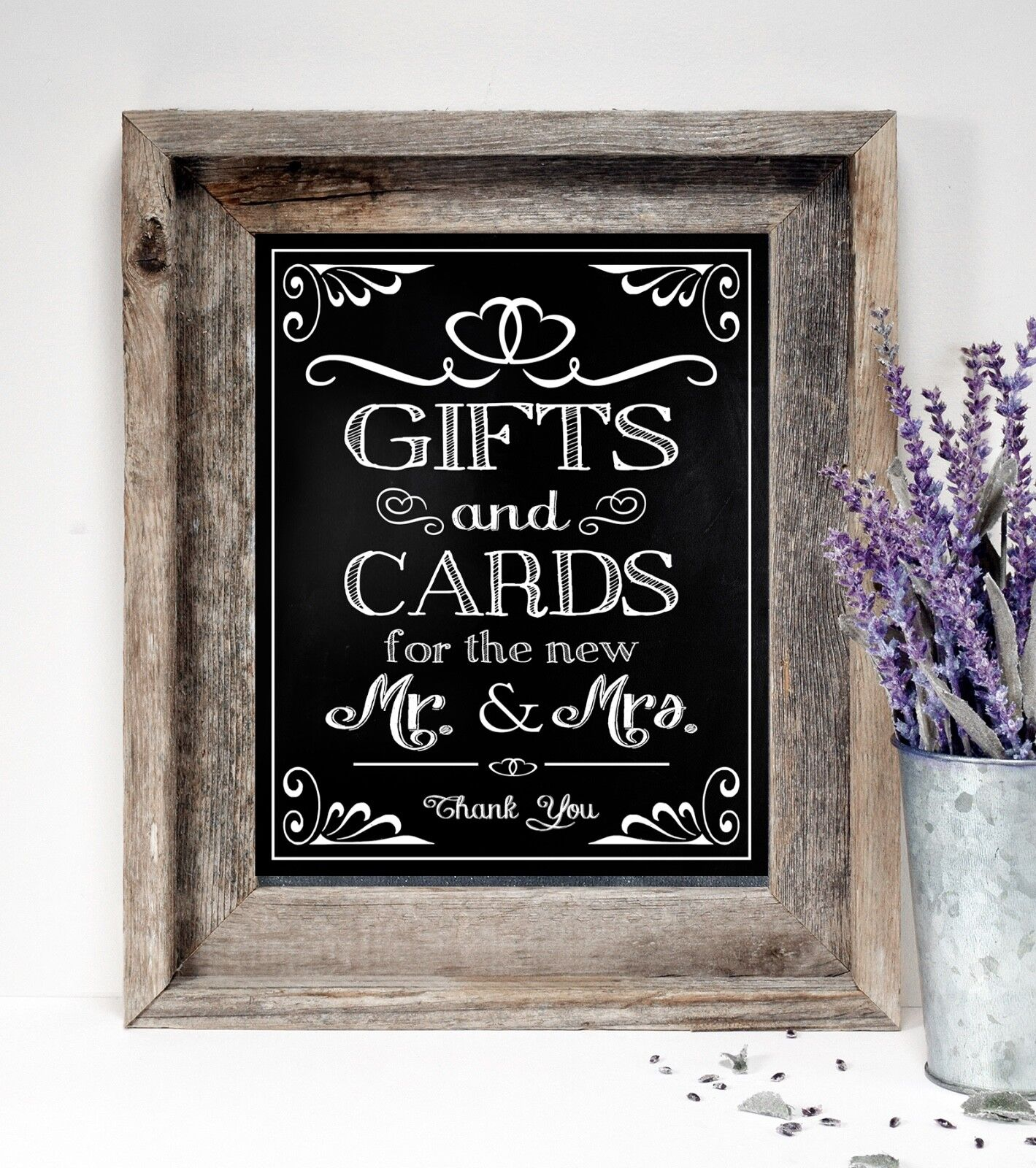 Cards & Gifts~ Wedding Sign  8x10  ~ Rustic/ Chalkboard PRIN