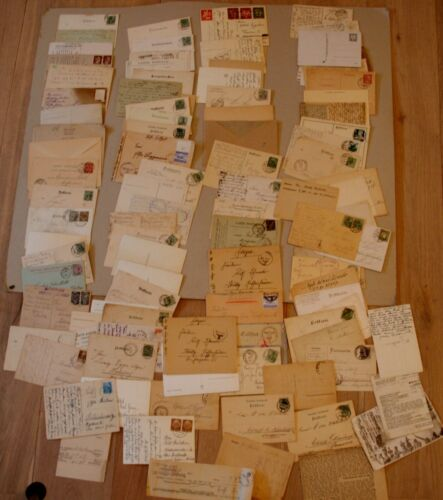 German WW1 & WW2 Feldpost - Fieldpost 100x, letters, postcards, mostly run