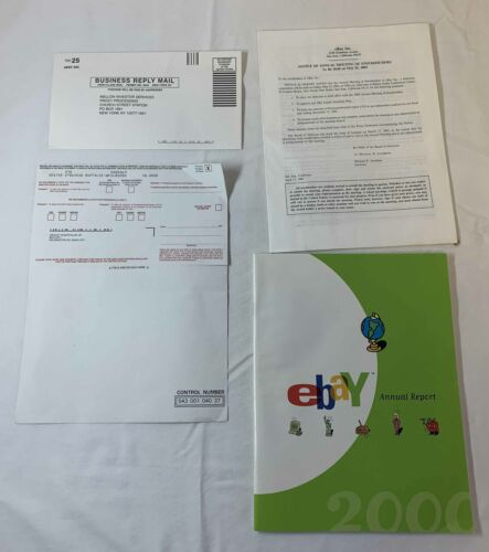 2000 EBAY ANNUAL REPORT plus proxy card and Notice Of Shareholders Meeting