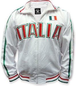 Italia International Country Track Jacket Italy Italian Soccer National Pride