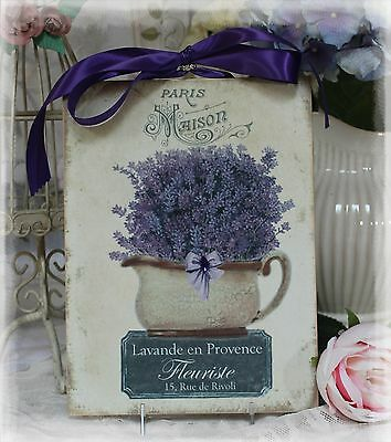 """Lavande en Provence"" French Fatherland Shabby Chic Cottage style Wall Decor Sign"