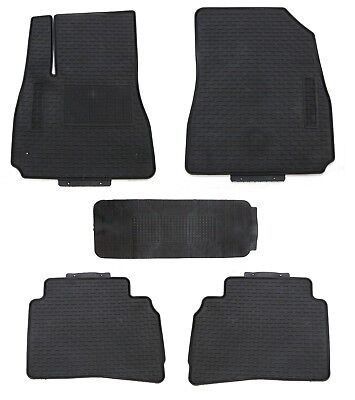Floor Mats for 2013-2015 Chevrolet Malibu Shape Black Rubber All Weather