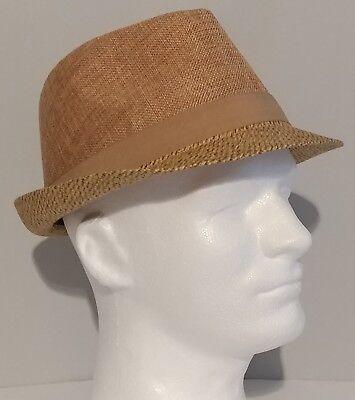 NEW!! Mens Keep It Trendy Beige Fedora Hat One Size  - Trendy Fedora Hats