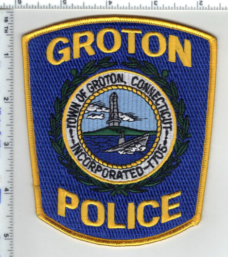 Groton Police (Connecticut) 6th Issue Shoulder Patch - new