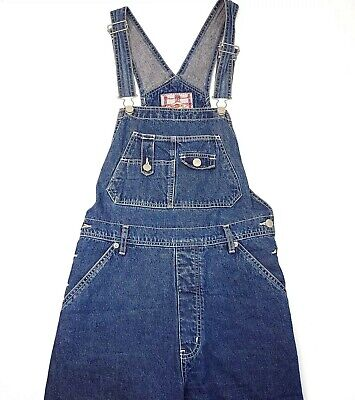 Vintage Overalls & Jumpsuits Revolt Bib Denim Overalls Women's Large Blue Pockets Carpenter Cotton Vintage $38.66 AT vintagedancer.com