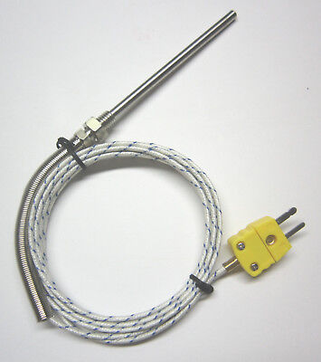 Grounded K-type Thermocouple Sensor W High Temperature Stainless Steel Probe Fg