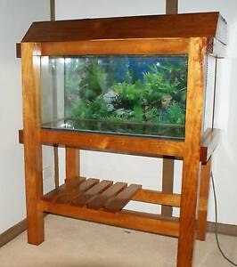 Easy Care Wooden Fish Tank, Wooden Stand and Lid and  Light Ravensbourne Toowoomba Surrounds Preview