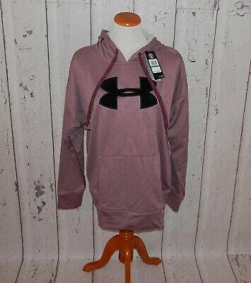 NEW Under Armour Women's Large Coldgear Logo Raised Logo Hoodie Jacket Top 3376