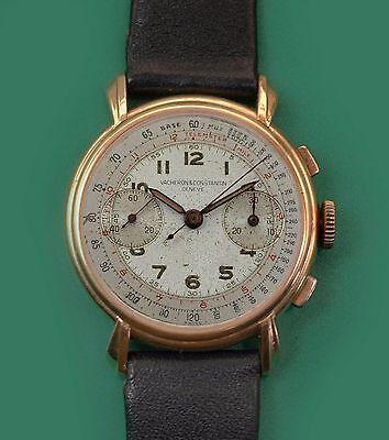 Vintage 1930s Vacheron Constantin 18k Rose Gold Chronograph Watch  Ref. 4072