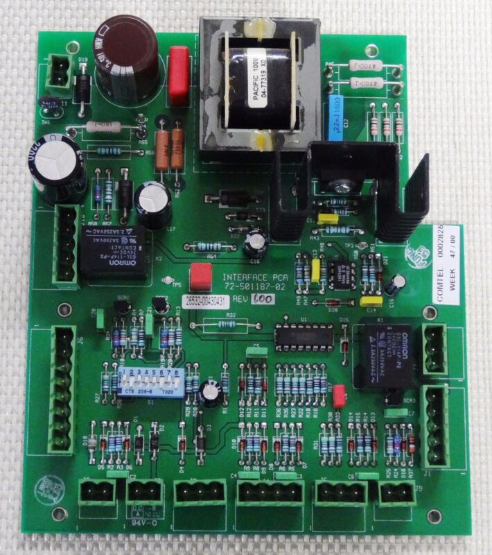 Dutec 72-501187-02 Interface PCA PCB Circuit Board