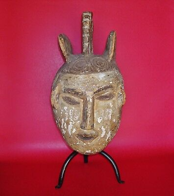 1 Face - 2 Different Shapes split by the Nose FANG NGONTANG Mask, Gabon, Africa