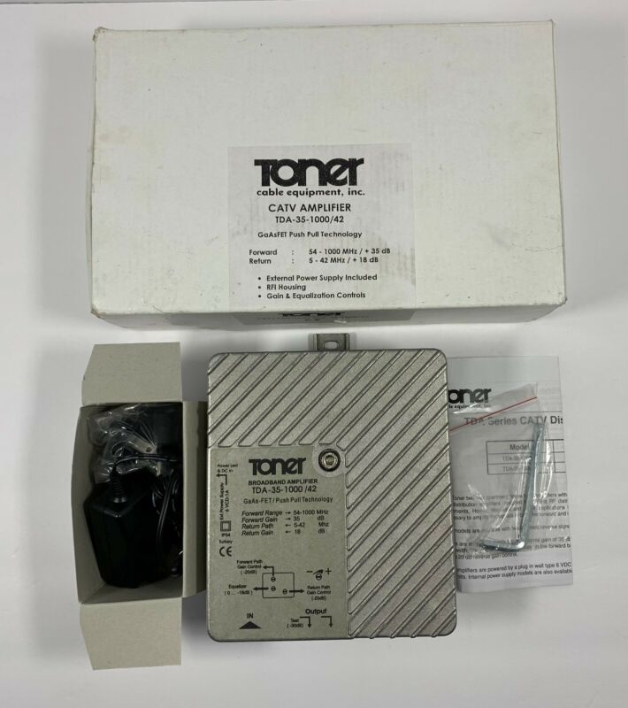 Toner CATV Distribution Amplifier TDA-35-1000/42 GaAsFET Push Pull Technology