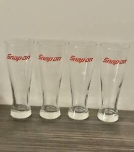 SNAP ON TOOLS 24oz Pilsner Beer Glasses - Set of 4