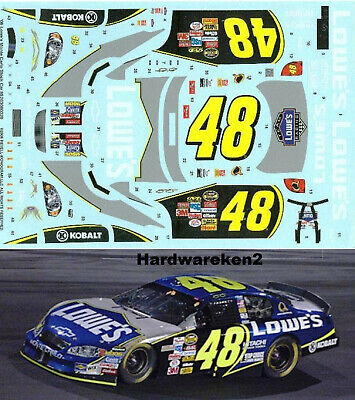 NASCAR DECAL #48 LOWE'S 2006 MONTE CARLO JIMMY JOHNSON - 1/24 Scale