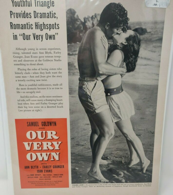 1950 Our Very Own Movie Advertisement Ann Blyth Farley Granger RKO Radio Picture
