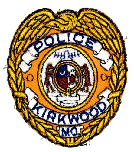 """KIRKWOOD MISSOURI MO Sheriff Police Patch STATE SEAL VINTAGE OLD MESH 3.75"""" USED"""