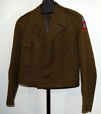 VTG Orig US Army Military 82nd Airborne Wool Ike Jacket Uniform Coat Korea 46R