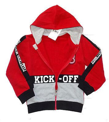 EMC Sweatjacke Hoodie Kapuzenjacke Jungen Kick Off Gr. 110 116 122 128 NeU - Jungen Hoodie Jacke