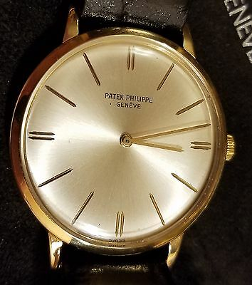 $4599.00 - Patek Philippe 18k Yellow Gold 3468 With Papers