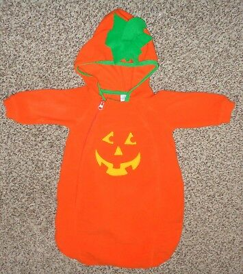 Baby Beginnings Boys Girls Halloween Pumpkin Bunting Costume Fleece 6-9 Months  - Baby Pumpkin Costume 6 9 Months
