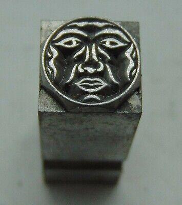 Printing Letterpress Printers Block Tiny Circle Face