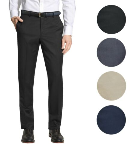 Mens Belted Slim Fit Dress Pants Flat Front Multiple Colors Mens Formal Trousers