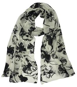 2e61bd20c197 Black and White Scarf  Scarves   Shawls