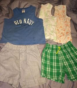 Boys lot, summer outfits, pants, tops swimshorts